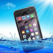 Custodia Nera Impermeabile Antiurto Antishock per iPhone 6 plus Waterproof Cover