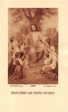 "nice rare Holy cards from 1930 ""H8696"" holy jesus benit les petits enfants"