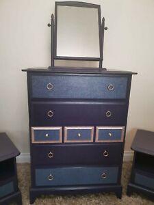 STAG Minstrel Tallboy chest of drawers and Mirror (ONLY)