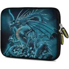 AMZER 7.75 Inch Dragon Neoprene Soft Sleeve-Case Cover Pouch - Teal Dragon