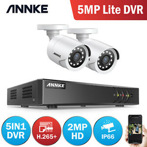 ANNKE 2 Camera 1080p CCTV Kit 8+2CH 5MP Lite DVR Home Security System IP66 Email