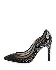 NEW was £395! LK BENNETT 41EU:8UK:10.5US FAYE CRYSTAL Embellish Black Court Pump