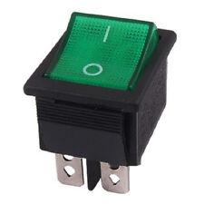 2 x Green Light 4 Pin On-Off Boat Rocker Switch 16A/250V 20A/125V AC P4L3