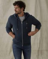 Men's Belstaff Tracksuit Jacket Hooded Jumper Zipped Sweatshirt Blue Size S-XL