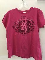 Browning Buckmark Womens MEDIUM Pink Buck T-Shirt Tee Top