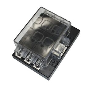 6 Way ATC Fuse Holder Panel Box 1 In 6 Out Car Auto Boat Marine 6ATC-1