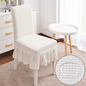 Stretch Fitted Dining Chair Cover Removable Party Furniture Slipcovers Skirt 1PC