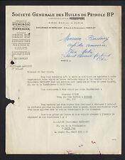 "PARIS (VIII°) HUILES de PETROLE / CARBURANTS ""BP / ENERGIC / ENERGOL"" en 1953"