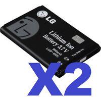 2 FOR 1 LG OEM LGIP-430G Cellphone Battery for Shine CU720 & CF360