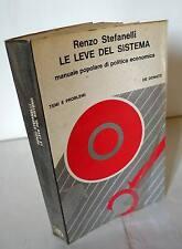 Stefanelli,LE LEVE DEL SISTEMA 1971 [politica economica,economia