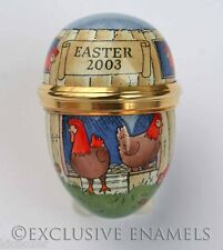 Halcyon Days Enamels 2003 Easter Chickens Mini Enamel Egg New In Box
