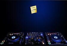Art Poster  DJ Gone clubbing Record Deck  Print