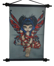 Jasmine Becket Griffith Red Ribbon Fairy Wall Scroll Decor Licensed Artwork