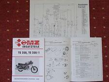 1982 Ersatzteilliste MZ TS 250 TS 250/1 Ersatzteilkatalog VEB IFA NEU Liste