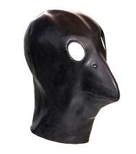 Black Latex Crow Gimp Mask Fetish Fancy Dress Halloween Bondage Bird Stag Night