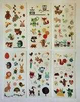Tiere 6er Set Sticker Aufkleber Kinder Schulanfang Papierbasteln Deko matt