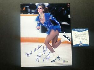 Katarina Witt Hot signed autographed Olympics skating 8x10 photo Beckett BAS coa