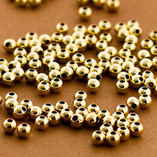 Wholesale 20 Pcs - 3mm Round Beads in 14k Solid Gold