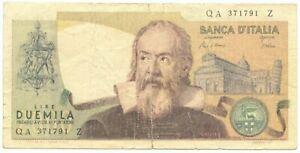 2000 LIRE FALSO D'EPOCA BANCA D'ITALIA GALILEO GALILEI 24/10/1983 MB/BB