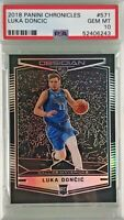Luka Doncic 2018-19 Panini Chronicles Obsidian Preview Rookie PSA 10 Gem Mint