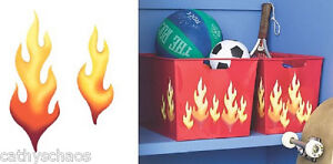 Wallies 25 Flames Kids Room Man Cave Accessory Art Craft Wall Decals Decorations