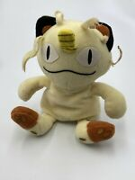Vintage 1998 Pokemon Plush Meowth Cat Hasbro Stuffed Animal Toy Bean Bag Pokémon
