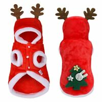Christmas Dog Cat Clothes Santa Costume Xmas apparel for Cats Dogs XS S M L XL