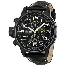 Invicta Lefty Chronograph Black Dial Black PVD Stainless Steel Mens Watch 3332