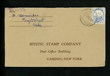 Postal History Bermuda Scott #87 Stamp Supplies 1934 Paget West to Camden NY