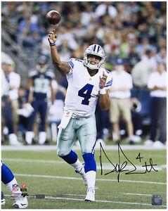 """DAK PRESCOTT Autographed Cowboys """"Release"""" 16 x 20 Photograph PANINI LE 4/20"""