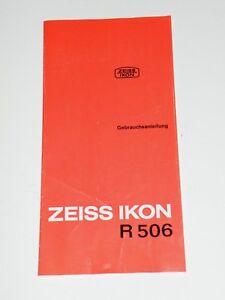 Originale Bedienungsanleitung manual für Diaprojektor Zeiss Ikon R 506