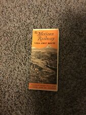 THE MEXICAN RAILWAY/ VERA CRUZ ROUTE Vintage Brochure with Map & Time Tables