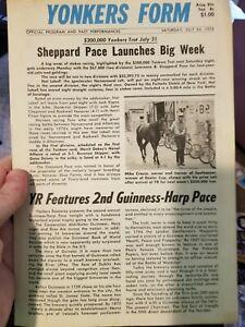 7/24/76 YONKERS RACEWAY PROGRAM NICKAWAMPUS LEROY-RIN TIM TIM- SEATRAIN