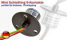 6Pin Mini Schleifkontakt Stromabnehmer Schleifring 12,5mm 2A 250RPM für Arduino,