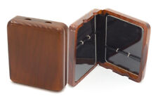 More details for wooden case for 6 tenor saxophone reeds - perspex interior - stylish mahogany