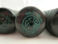 Vtg GOLF PRIDE VICTORY STANDARD GRIP Ribbed Green Black Golf Grips Irons Woods