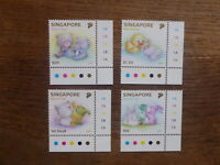 SINGAPORE 2017 BABY ANIMALS SET 4 MINT STAMPS