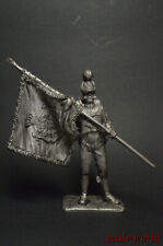 1/30 Tin soldier Sergeant standard bearer figure metal soldiers 54mm