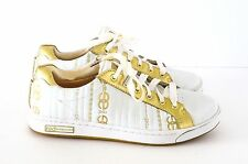 Red by Marc Ecko Gramercy Cabrini White/Gold Sneakers Size 8 EUC