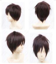 Japan Anime Attack on Titan Eren Jaeger Full Cosplay Wig Brown Hair Wig+Wig Cap