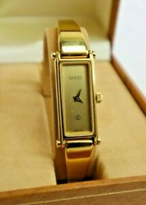 GUCCI 1500L Swiss Movement Gold Plated Quartz Petite Ladies Luxury Watch DS55
