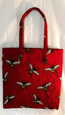 Tote Bag Bumble Bee Queen Womens Large Quality Dark Ruby Red Handbag Purse Gift
