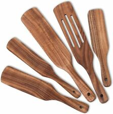Wooden Spurtle Set of 5 Wood Spurtles Cooking Utensils Nonstick Kitchen Tools