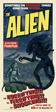 Alien Film Historic Classic Sci-Fi Horror Movie Poster Vintage Stylized Artwork