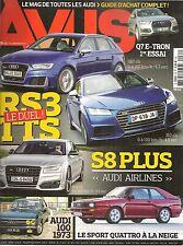 AVUS 35 AUDI A4 2.0 TFSI A4 AVANT V6 3.0 TDI TTS COUPE RS3 SPORTBACK S8 PLUS Q7