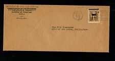 Japan Occupation of the Phillipines 1943 Official Cover to San Pablo
