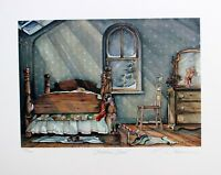 Trisha Romance Signed Numbered Limited Edition Christmas Elves Circa 1980's