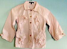 NWOT Lili Gaufrette Shirt Jacket Long Sleeve 6 yrs Girls Button Up Pink France