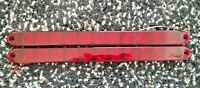 "(2) Tecniq T10 - 15"" Red LED Turn Brake Marker Light Bar Truck Trailer RV Camper"