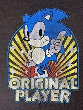 Sonic The Hedgehog Original Player T-Shirt MEDIUM Gray Sega Video Game